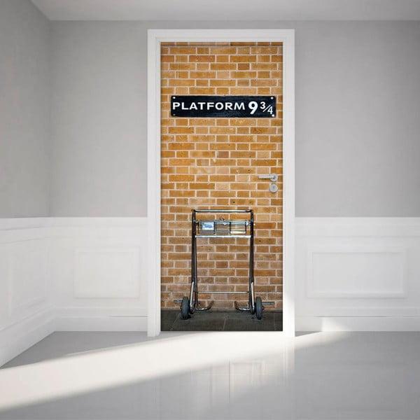 Autocolant adeziv pentru ușă Ambiance Harry Potter Platform, 83 x 204 cm