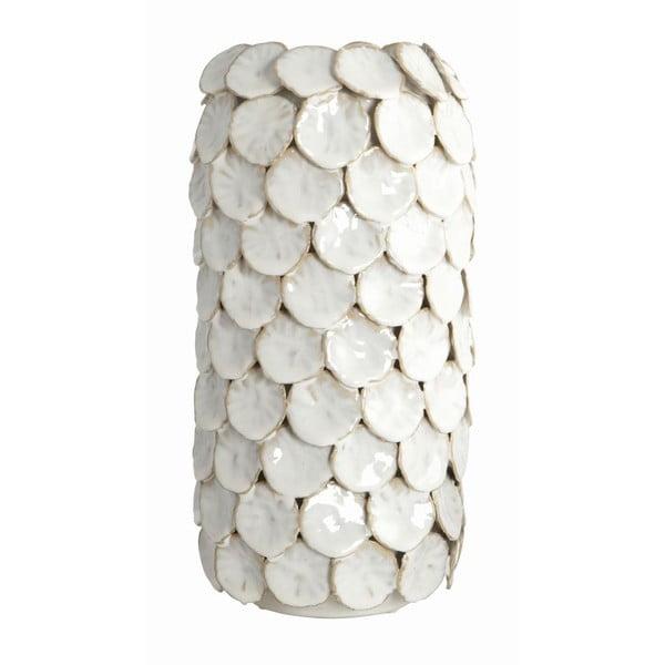 Váza Dot White Nature, 15x30 cm
