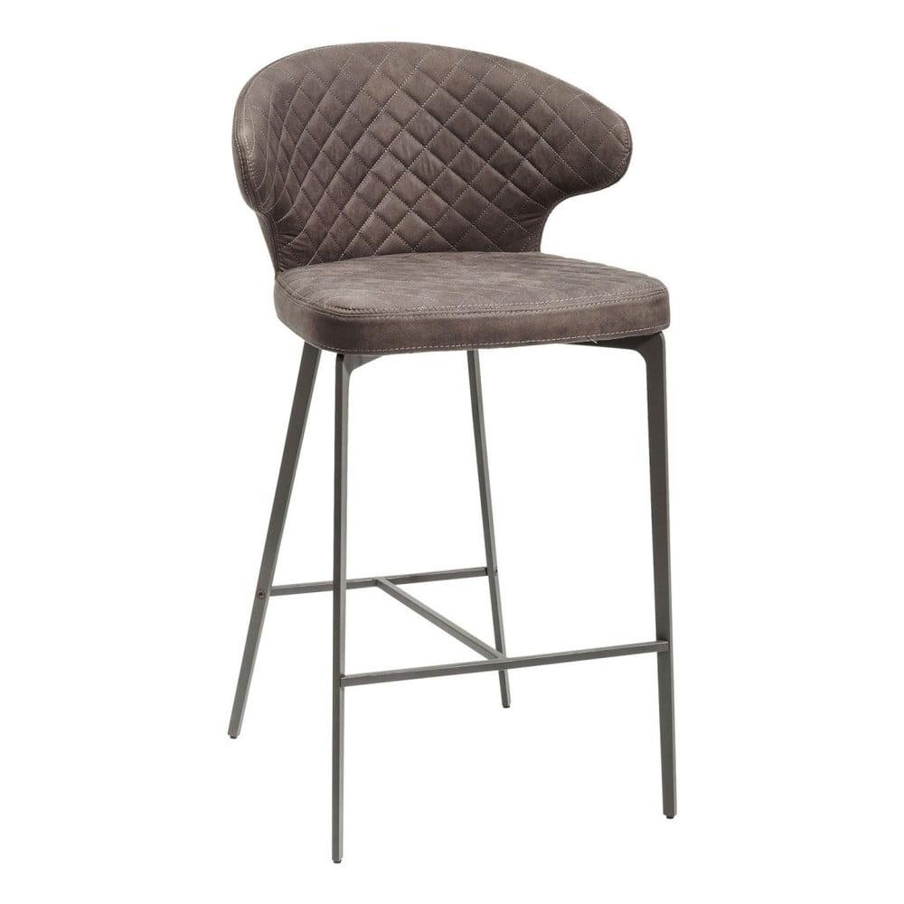 Tmavě šedá židle Kare Design Stool Amsterdam Grey