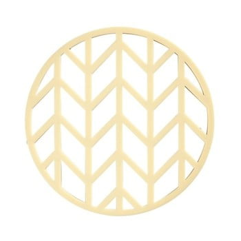 Suport din silicon pentru oale fierbinți Zone Crop, ø 14,5 cm, galben imagine
