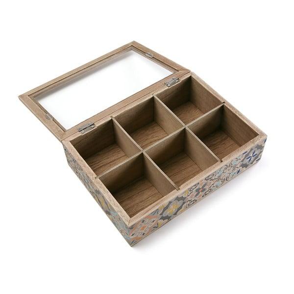 Úložná krabička na čaje VERSA Alfama, 24 x 17 cm
