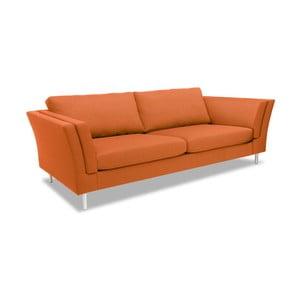 Oranžová třímístná pohovka Vivonita Connor