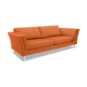 Canapea cu 3 locuri Vivonita Connor, portocaliu