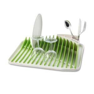 Zelenobílý odkapávač na nádobí Vialli Design Piano