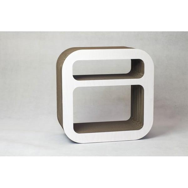 Kartonový noční stolek/police Kartoons, bílý