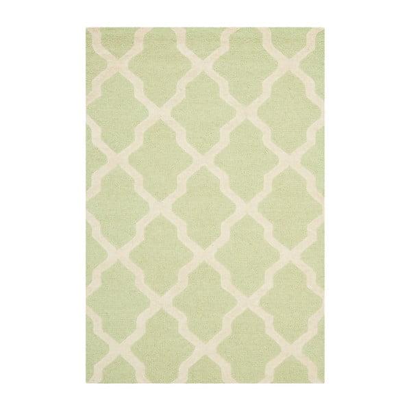 Vlněný koberec Ava Light Green, 91x152 cm
