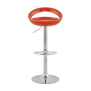 Oranžová nastavitelná otočná barová židle Kokoon Design Venus