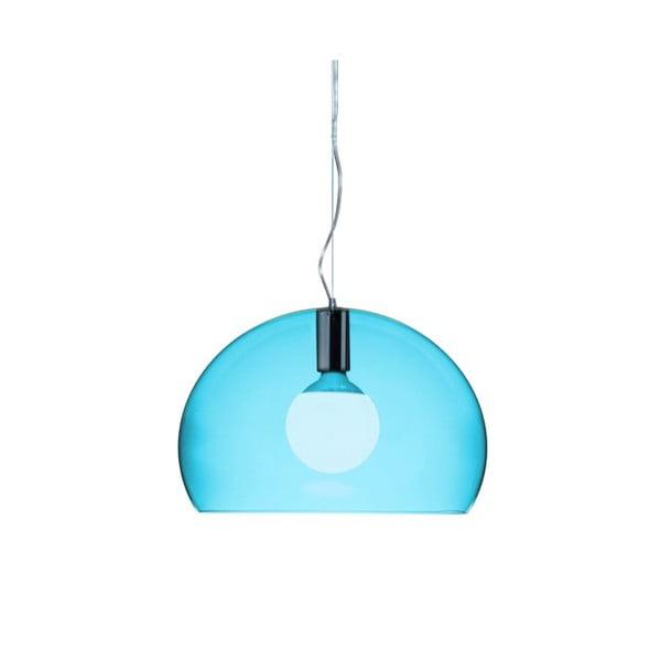 Menší modré stropní svítidlo Kartell Fly