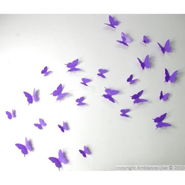 Set 12 autocolante Ambiance Butterflies, mov