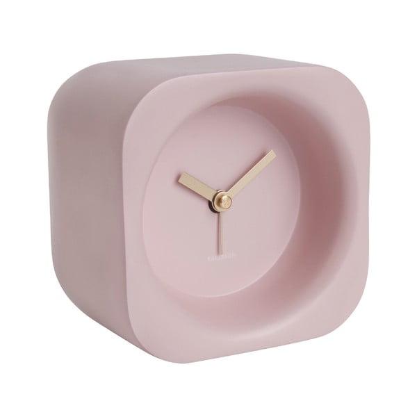 Ceas cu alarmă Karlsson Chunky, roz deschis