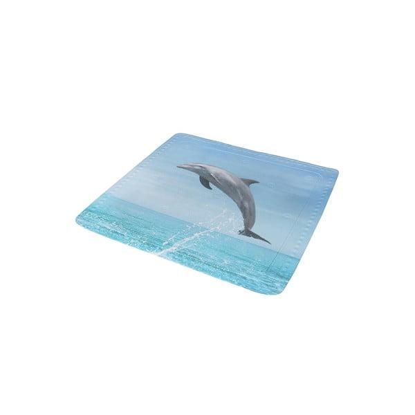 Koupelnová předložka Delfin Blue, 55x55 cm