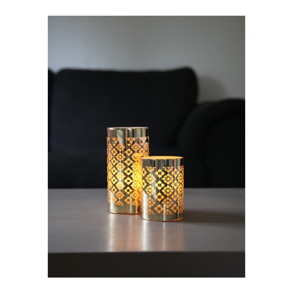 LED lucerna ve zlaté barvě Best Season Gull, výška 10 cm