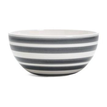 Bol din gresie ceramică Kähler Design Omaggio, ⌀ 20 cm, gri - alb