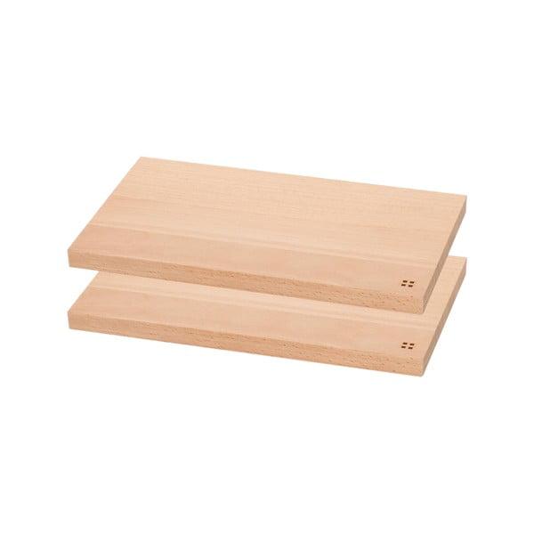 Sada 2 dřevěných prkének Sola Basic Wood, 26,5x15,5cm