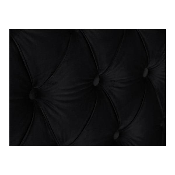 Černé čelo postele Mazzini Sofas, 200 x 120 cm