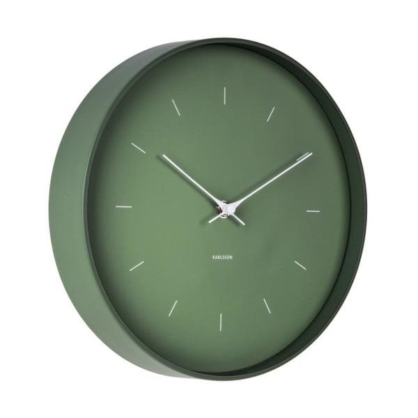 Zelené nástěnné hodiny Karlsson Butterfly, Ø 27,5 cm