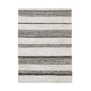 Šedý ručně tkaný vlněný koberec Linie Design Wonders, 170x200cm
