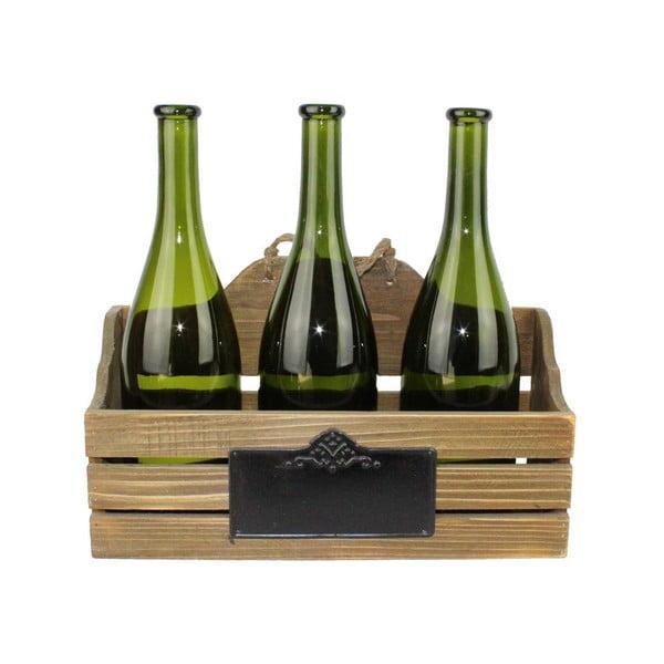 Dřevěná přepravka na 3 skleněné lahve Antic Line Reserve