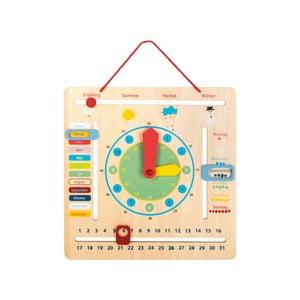 Dětské dřevěné edukativní hodiny s ročními obdobími Legler Seasons