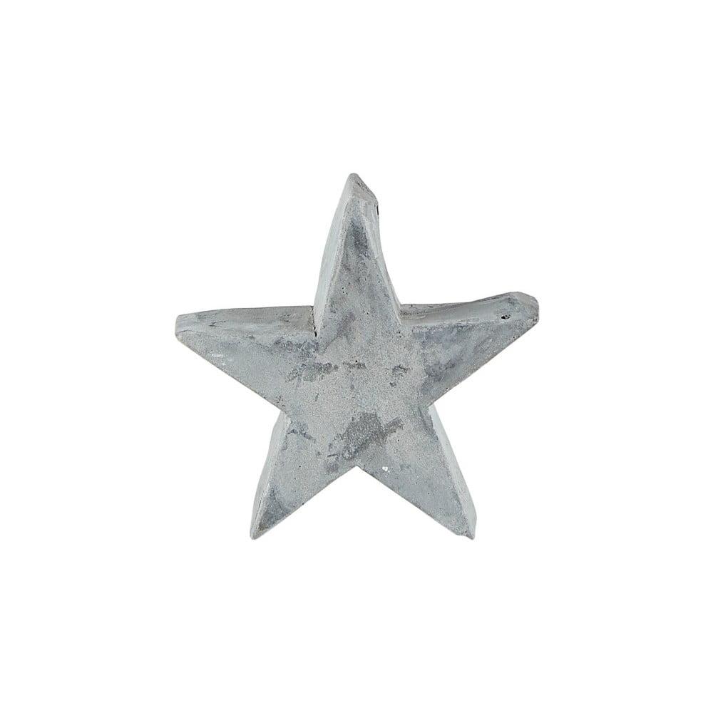 Šedá dekorativní soška KJ Collection Christmas Star, 9,5 cm