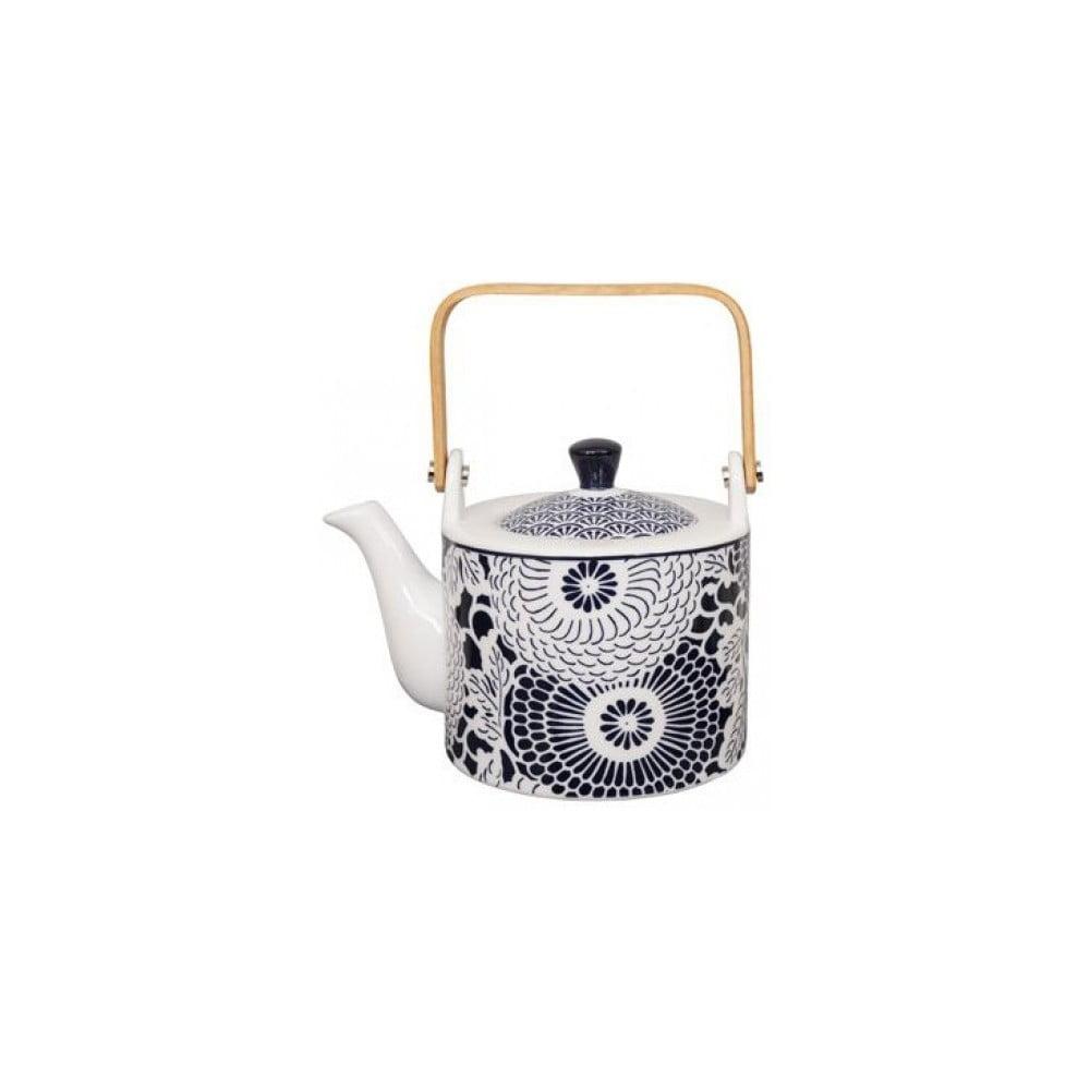 Modro-bílá porcelánová čajová konvice Tokyo Design Studio Shiki, 800 ml