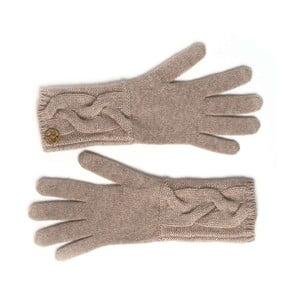 Hnědé kašmírové rukavice Bel cashmere Lela