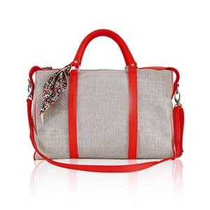 Kožená kabelka Iris Small, červená