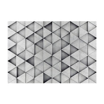 Tapet format mare Bimago Grey Triangle, 400 x 280 cm poza