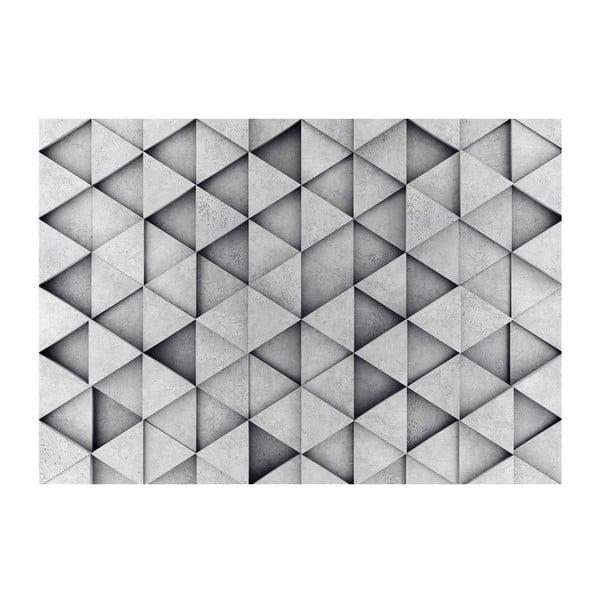 Veľkoformátová tapeta Bimago Grey Triangle, 400 x 280 cm