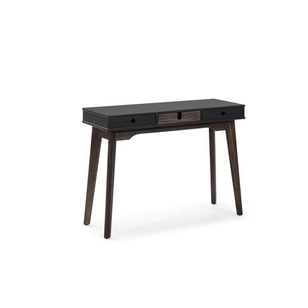 Šedý konzolový stolek s nohami z borovicového dřeva Marckeric Kiara