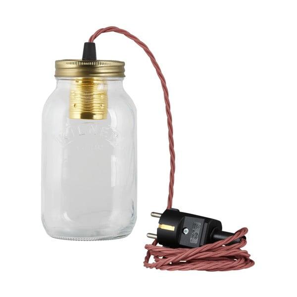Svítidlo JamJar Lights, starorůžový kroucený kabel