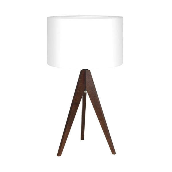 Stolní lampa Artist White/Brown, 40x33 cm