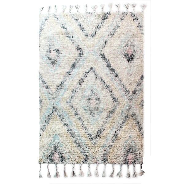 Světle béžový ručně tkaný koberec Flair Rugs Navajo, 120x170cm