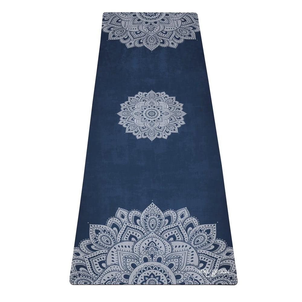 Tmavě modrá podložka na jógu Yoga Design Lab Travel Mandala, 1mm