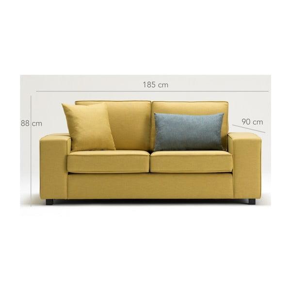 Žlutá dvoumístná pohovka Balcab Home Doty