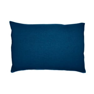 Tmavě modrý lněný povlak na polštář L'Officiel Interiors, 40x80cm