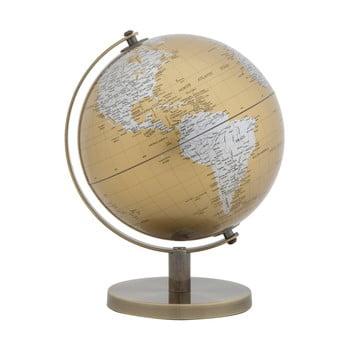 Decorațiune pentru masă Mauro Ferretti Globe, înălțime28cm, auriu-argintiu imagine