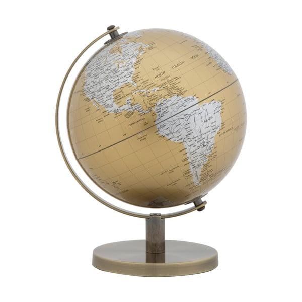 Globe arany-ezüstszínű asztali dekoráció, magasság 28 cm - Mauro Ferretti