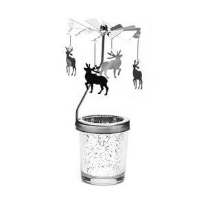Stojan na čajovou svíčku se železnou otočnou dekorací Just Mustard Moose