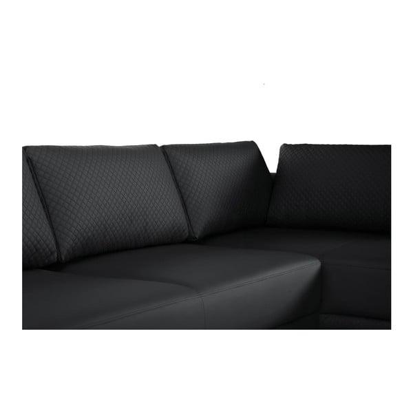 Černá pohovka Florenzzi Einaudi s lenoškou na levé straně