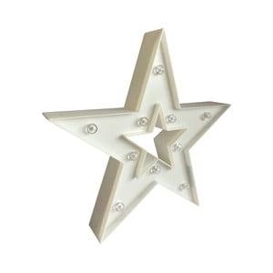 Bílá hvězda s LED žárovkami Maiko