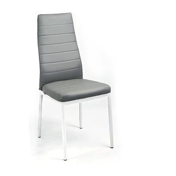 Jídelní židle Queen, bílá/šedá