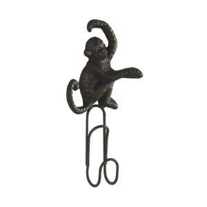 Sada 3 tmavě šedých nástěnných kovových věšáků Geese Monkey