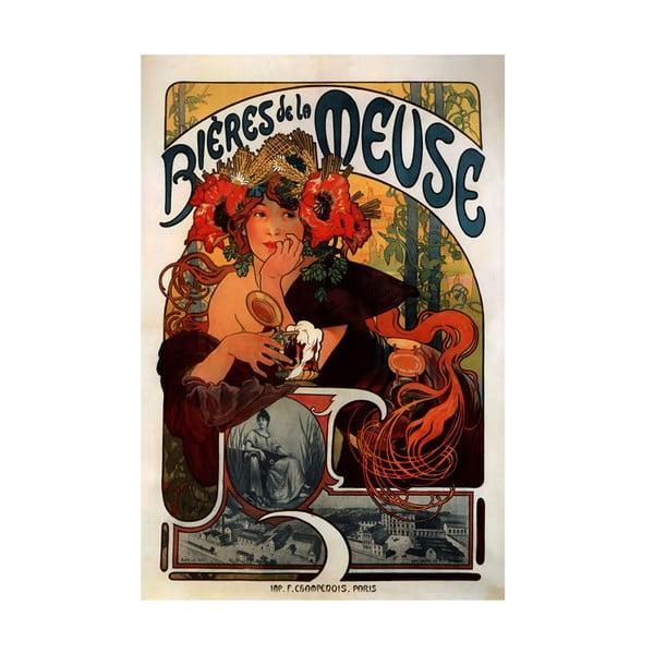 Obraz Bieres de la Meuse od Alfonse Muchy, 26x40 cm