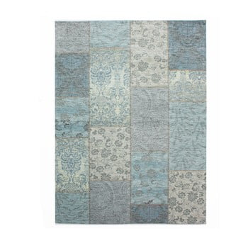 Covor Flair Rugs Patchwork Chenille Duck Egg, 155 x 230 cm, gri-albastru de la Flair Rugs