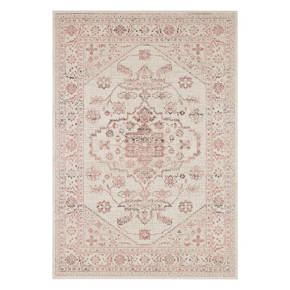 Červeno-béžový venkovní koberec Bougari Navarino, 80 x 150 cm