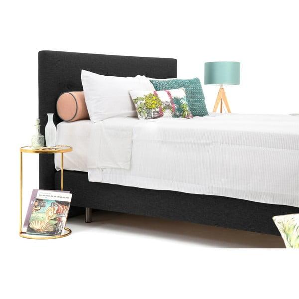 Antracitově šedá boxspring postel Vivonita Lando, 140x200cm