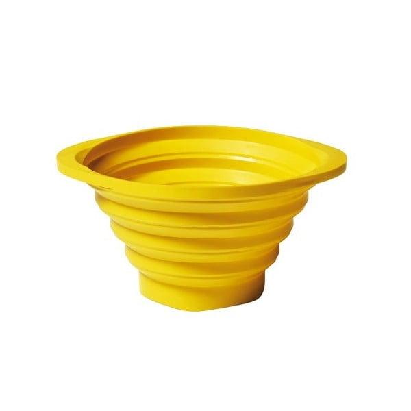 Skládací cedník Strained 23 cm, žlutý
