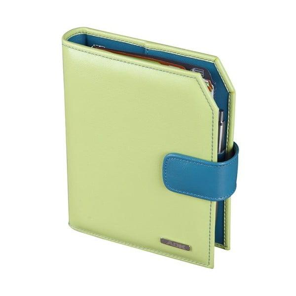 Diář ADK Finesa 2015, A6, zelený/modrý