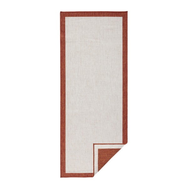 Červeno-krémový vonkajší koberec Bougari Panama, 80 x 250 cm